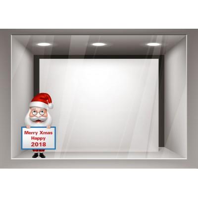 Αυτοκόλλητα Βιτρίνας Χριστούγεννα-Άγιος Βασίλης και οι Ευχές του xmas15