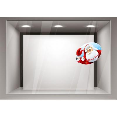 Αυτοκόλλητα Βιτρίνας Χριστούγεννα-Άγιος Βασίλης  xmas02