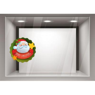 Αυτοκόλλητα Βιτρίνας Χριστούγεννα-Άγιος Βασίλης xmas08