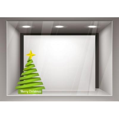 Αυτοκόλλητα Βιτρίνας Χριστούγεννα-Δέντρο xmas03