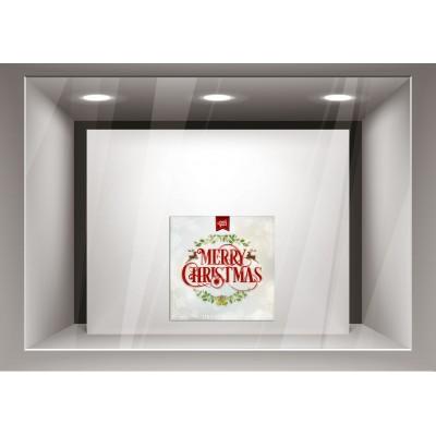 Αυτοκόλλητα Βιτρίνας Χριστούγεννα- Όμορφες Ευχές xmas27