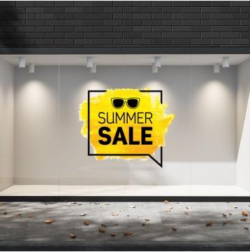 Summer Sales  05 Εκπτωτικά  Αυτοκόλλητα Βιτρίνας - Κίτρινα Γυαλιά