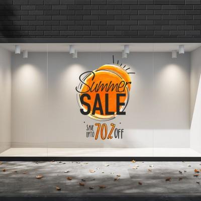 Summer Sales  07 Εκπτωτικά  Αυτοκόλλητα Βιτρίνας