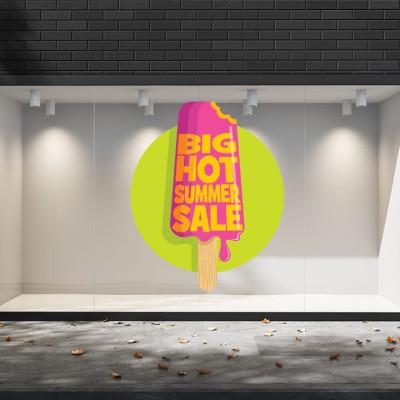 Summer Sales  31 Εκπτωτικά  Αυτοκόλλητα Βιτρίνας - Παγωτό