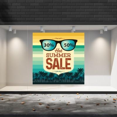 Summer Sales  10 Εκπτωτικά  Αυτοκόλλητα Βιτρίνας - Hot summer sale
