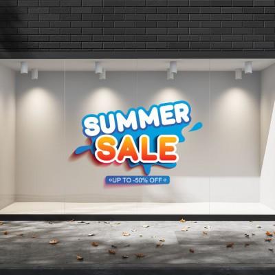 Summer Sales  14 Εκπτωτικά  Αυτοκόλλητα Βιτρίνας