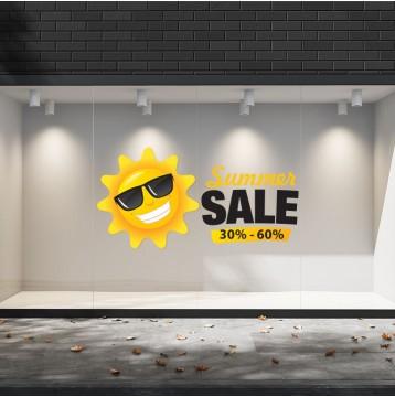 Summer Sales  15 Εκπτωτικά  Αυτοκόλλητα Βιτρίνας