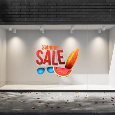 Summer Sales  22 Εκπτωτικά  Αυτοκόλλητα Βιτρίνας
