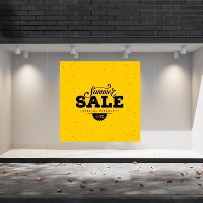 Summer Sales  23 Εκπτωτικά  Αυτοκόλλητα Βιτρίνας