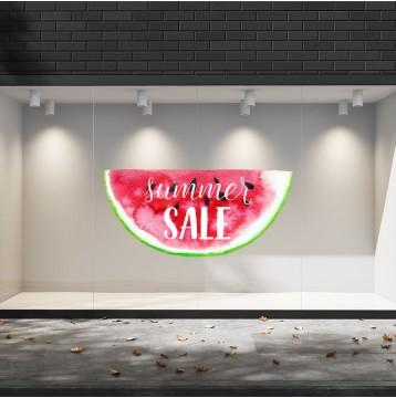 Summer Sales  25 Εκπτωτικά  Αυτοκόλλητα Βιτρίνας - Καρπούζι