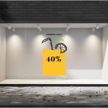 Summer Sales  26 Εκπτωτικά  Αυτοκόλλητα Βιτρίνας