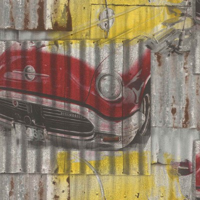 Ταπετσαρία τοίχου Rasch Kids & Teens III  212419  Γκράφιτι αυτοκίνητα 10,05x0,53