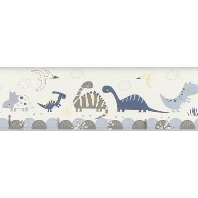 Ταπετσαρία τοίχου μπορντούρα  Rasch Bambino XVIII  248869 Χαρούμενοι δεινόσαυροι 5,00x0,17
