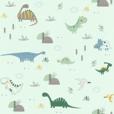 Ταπετσαρία τοίχου Rasch Bambino XVIII  249330 Χαρούμενοι δεινόσαυροι 10,05x0,53