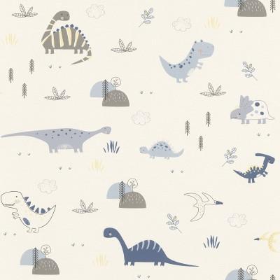 Ταπετσαρία τοίχου Rasch Bambino XVIII  249347 Χαρούμενοι δεινόσαυροι 10,05x0,53