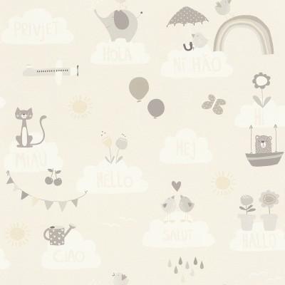 Ταπετσαρία τοίχου Rasch Bambino XVIII  249446 Χαρούμενα ζωάκια 10,05x0,53