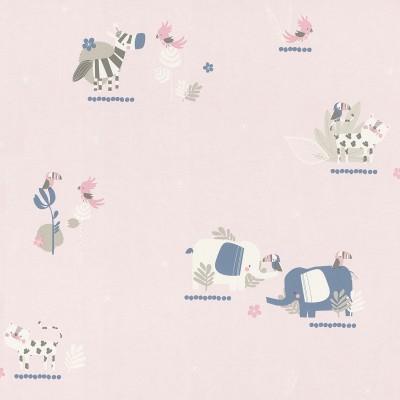Ταπετσαρία τοίχου μπορντούρα  Rasch Bambino XVIII  249873 Χαρούμενα ζωάκια 5,00x0,17