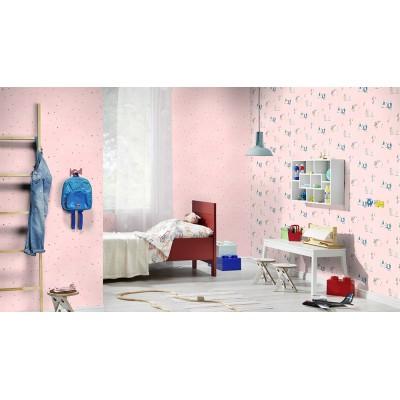 Ταπετσαρία τοίχου Rasch Bambino XVIII  249743 Χαρούμενα ζωάκια 10,05x0,53