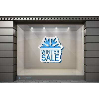 WSL002  Αυτοκόλλητα Βιτρίνας / Τοίχου - Χειμωνιάτικες Εκπτώσεις