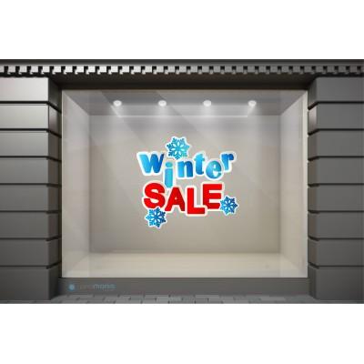 WSL006 Αυτοκόλλητα Βιτρίνας / Τοίχου - Χειμωνιάτικες Εκπτώσεις  Winter Sale