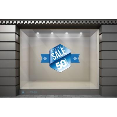WSL011 Αυτοκόλλητα Βιτρίνας / Τοίχου - Χειμωνιάτικες Εκπτώσεις Winter Sale με ποσοστό