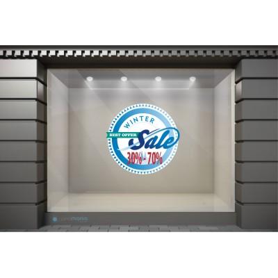WSL018 Αυτοκόλλητα Βιτρίνας / Τοίχου - Winter Sales Καλύτερη Προσφορά