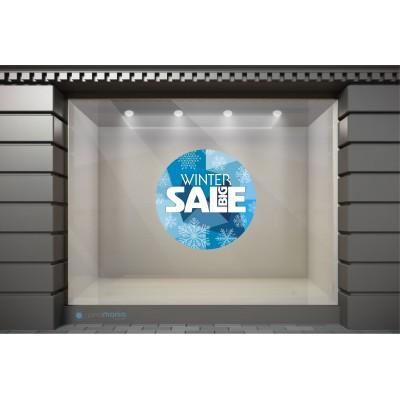 WSL019 Αυτοκόλλητα Βιτρίνας / Τοίχου - Big Winter Sale