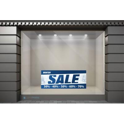 WSL025 Αυτοκόλλητα Βιτρίνας / Τοίχου - Winter Sale με Ποσοστά