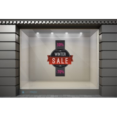 WSL030 Αυτοκόλλητα Βιτρίνας / Τοίχου - Winter Sale με Ποσοστά