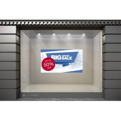 WSL031 Αυτοκόλλητα Βιτρίνας / Τοίχου - Big Winter Sale
