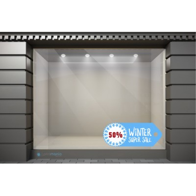 WSL035 Αυτοκόλλητα Βιτρίνας / Τοίχου - Χειμωνιάτικες Εκπτώσεις Super Sale