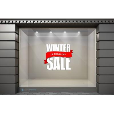 WSL041 Αυτοκόλλητα Βιτρίνας / Τοίχου - Winter Sale