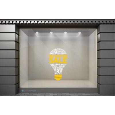 WSL047 Αυτοκόλλητα Βιτρίνας / Τοίχου - Big Winter Sale Μέσα σε Λάμπα
