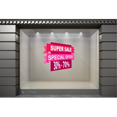 WSL106 Αυτοκόλλητα Βιτρίνας / Τοίχου - Χειμωνιάτικες Εκπτώσεις Super Sale