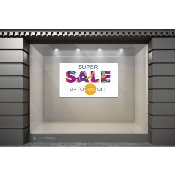 WSL130 Αυτοκόλλητα Βιτρίνας / Τοίχου - Χειμερινές Εκπτώσεις Super Sale με Ποσοστό