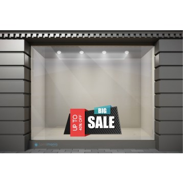 WSL136 Αυτοκόλλητα Βιτρίνας / Τοίχου - Χειμωνιάτικες Εκπτώσεις Big Sale με Ποσοστό
