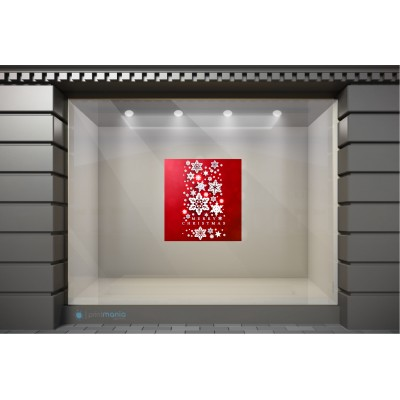 XSM033 Χριστουγεννιάτικα Αυτοκόλλητα Βιτρίνας / Τοίχου - Χιονονιφάδες