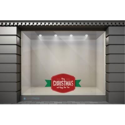 XSM051 Χριστουγεννιάτικα Αυτοκόλλητα Βιτρίνας / Τοίχου - Merry Christmas