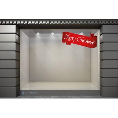 XSM087 Χριστουγεννιάτικα Αυτοκόλλητα Βιτρίνας / Τοίχου - Merry Christmas