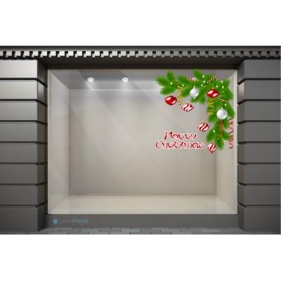 XSM115 Χριστουγεννιάτικα Αυτοκόλλητα Βιτρίνας / Τοίχου - Χριστουγεννιάτικα Στολίδια