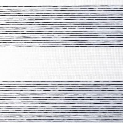 Διπλό ρόλερ Zebra ZK 67 Ρίγα Άσπρο-Μαύρο