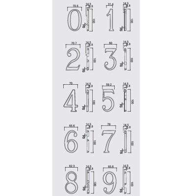 Αριθμοί διευθύνσεων Conset σε νίκελ ματ ή ματ ορείχαλκο