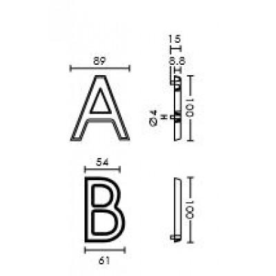 Γράμματα διευθύνσεων Conset σε νίκελ ματ ή ματ ορείχαλκο
