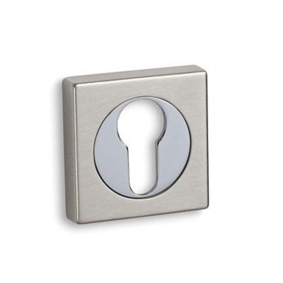 Ροζέτα Πόρτας Ασφαλείας Convex 735 νίκελ ματ/χρώμιο