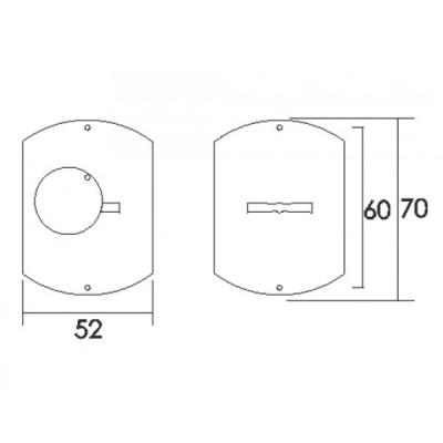 Αξεσουάρ Πόρτας Σετ Δίσκοι Ασφαλείας` Convex 160 σε νίκελ ματ και χρυσό ματ