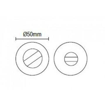 Αξεσουάρ Πόρτας Μπάνιου Viometale 460 (κλείστρο w.c) άσπρο ματ