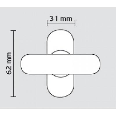 Αξεσουάρ Πόρτας Ασφαλείας Convex 113 (κλείστρο θωρακισμένης πόρτας) νίκελ ματ