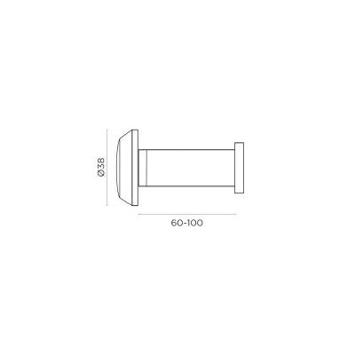 Ματάκι Πόρτας Convex 701 σε 2 αποχρώσεις