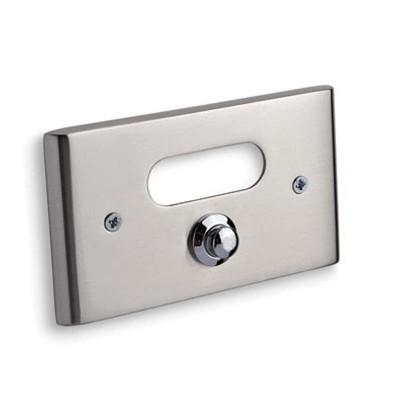 Κουδούνι πόρτας Convex 137B νίκελ ματ/χρώμιο