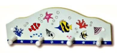 Κρεμάστρα τοίχου ψάρια